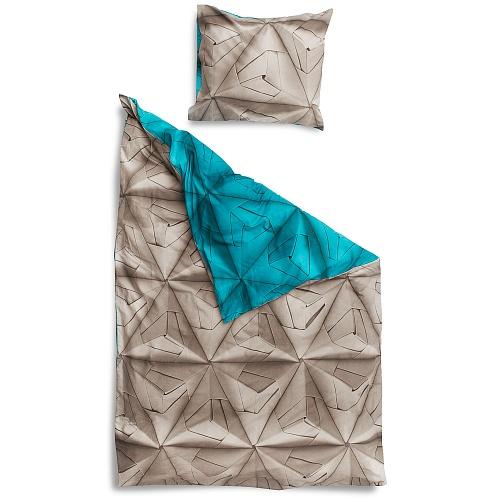 Купить Постельное белье Оригами синий (150*200) в интернет магазине дизайнерской мебели и аксессуаров для дома и дачи