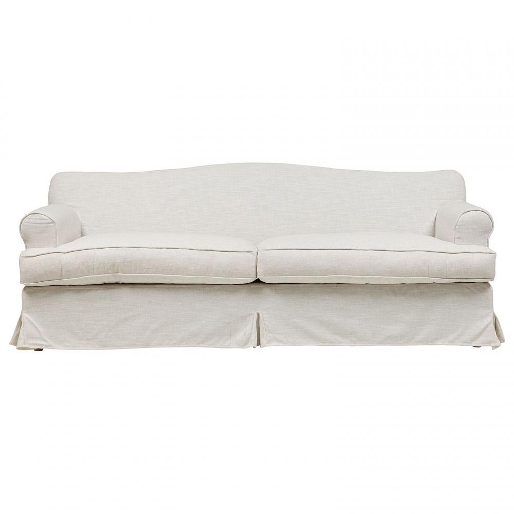 Диван Fernando Большой Белый ЛенДиваны<br><br><br>Цвет: Белый<br>Материал: Ткань, Поролон, Дерево<br>Вес кг: 69<br>Длина см: 210<br>Ширина см: 84<br>Высота см: 84