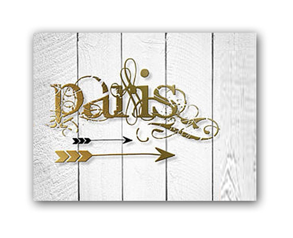 Постер Paris А4 (золотой)