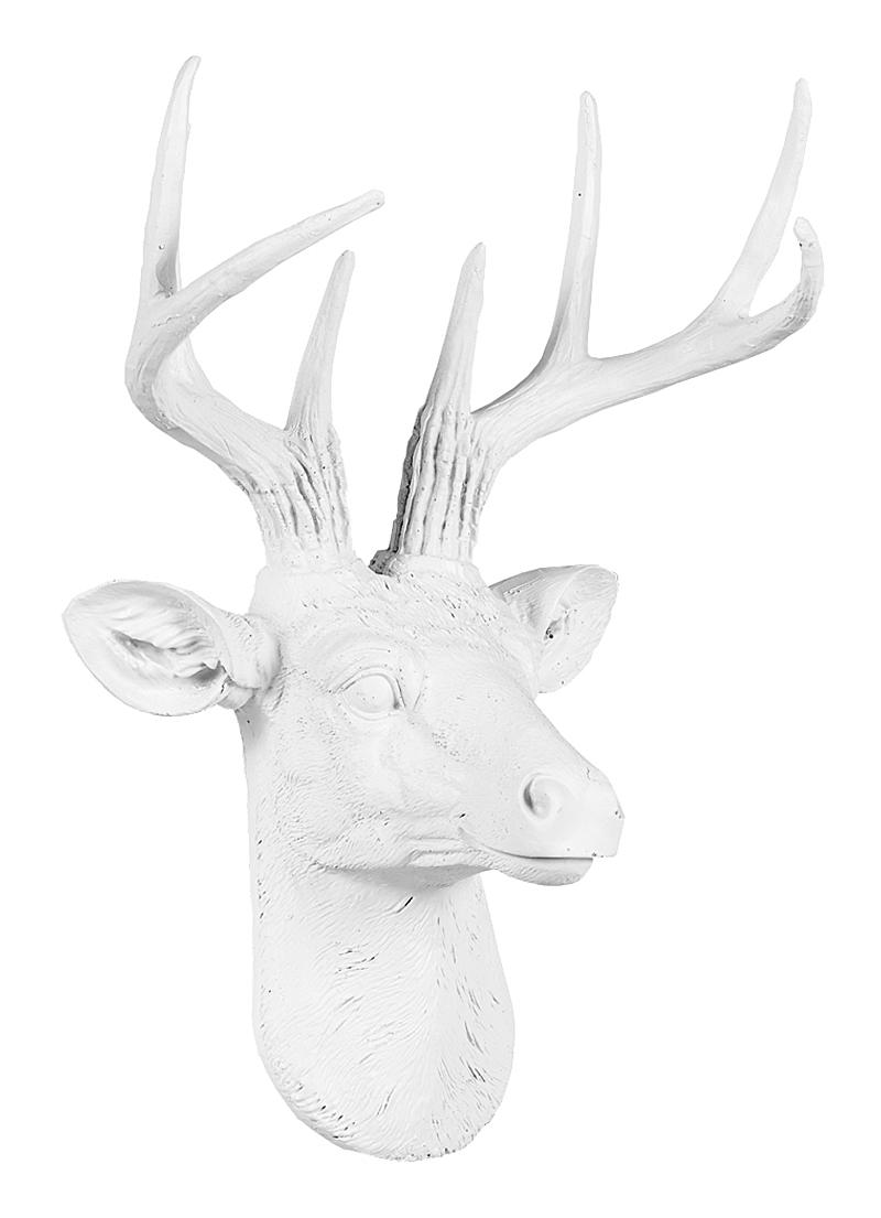 Купить Арт-декор Благородный олень (белый) в интернет магазине дизайнерской мебели и аксессуаров для дома и дачи