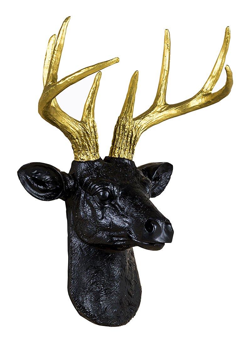 Купить Арт-декор Благородный олень (черный) в интернет магазине дизайнерской мебели и аксессуаров для дома и дачи