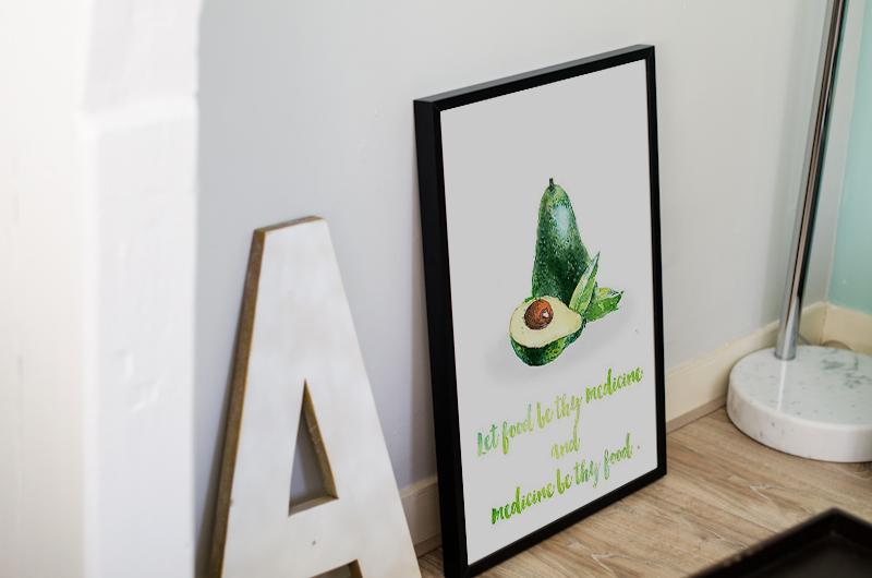 Постер Авокадо А4