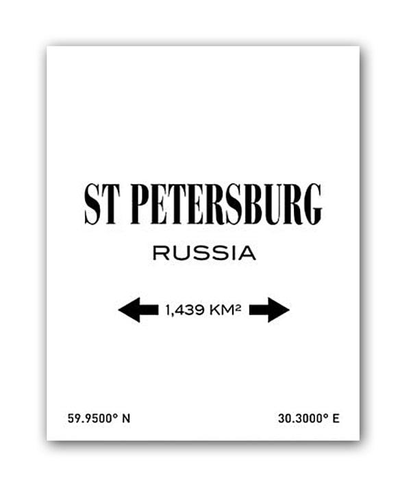 Постер St.Petersburg А4 (белый), DG-D-PR153