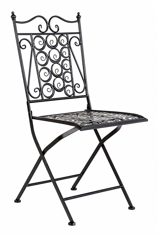Складной стул Риволи (черный антик), OM-CH02