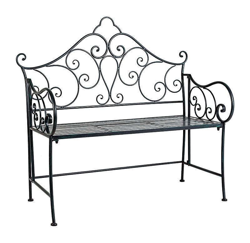 Купить Металлическая скамья Венсен (черный антик) в интернет магазине дизайнерской мебели и аксессуаров для дома и дачи