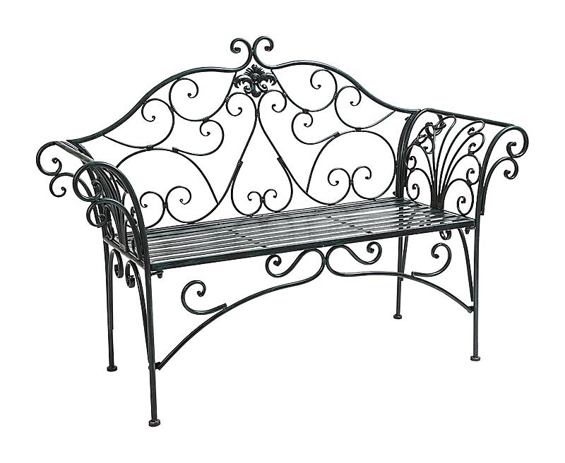 Купить Металлическая скамья Тюильри (черный антик) в интернет магазине дизайнерской мебели и аксессуаров для дома и дачи
