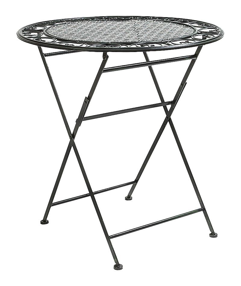 Купить Складной столик для завтрака Монсо (черный антик) в интернет магазине дизайнерской мебели и аксессуаров для дома и дачи