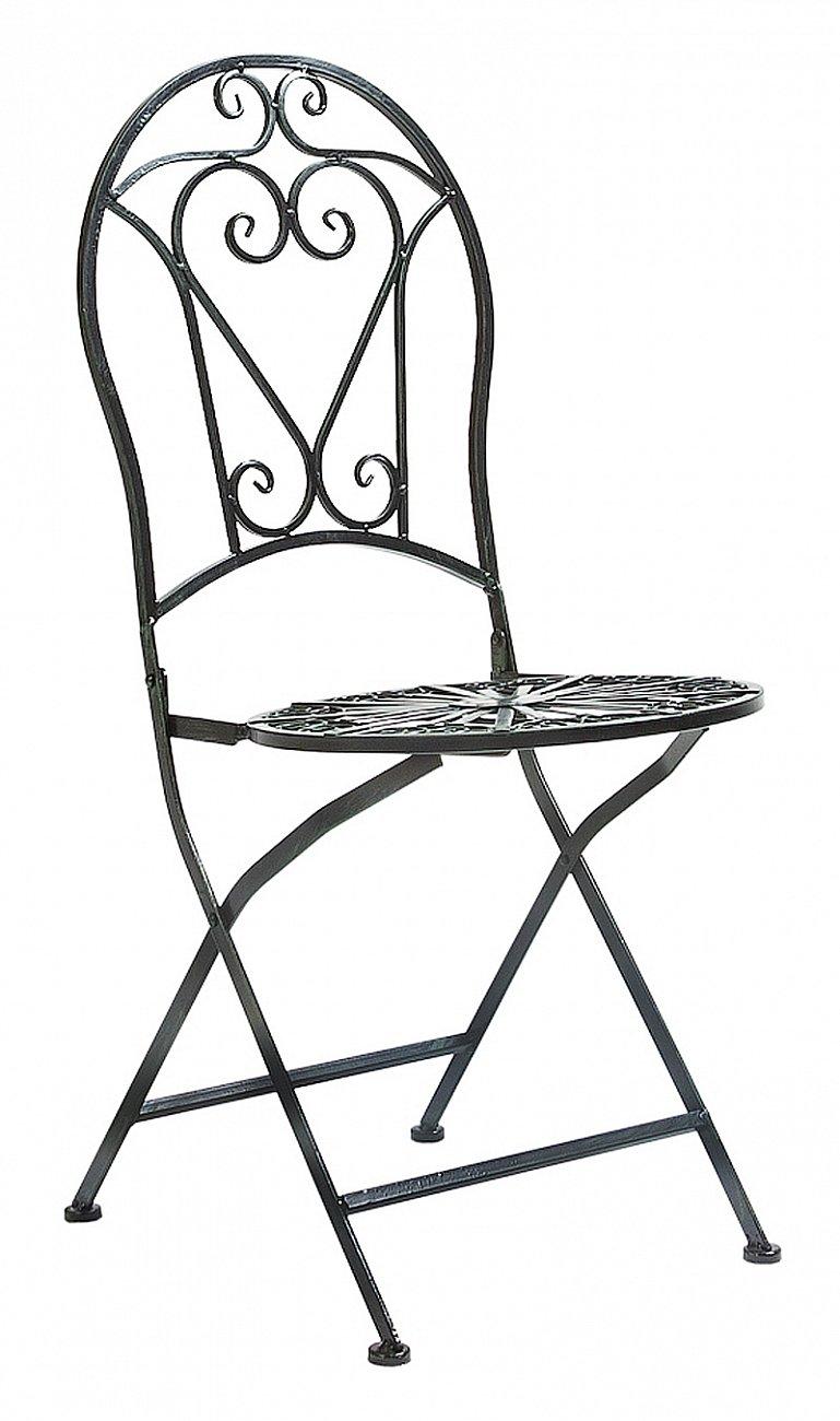 Купить Складной круглый стул Тюильри (черный антик) в интернет магазине дизайнерской мебели и аксессуаров для дома и дачи