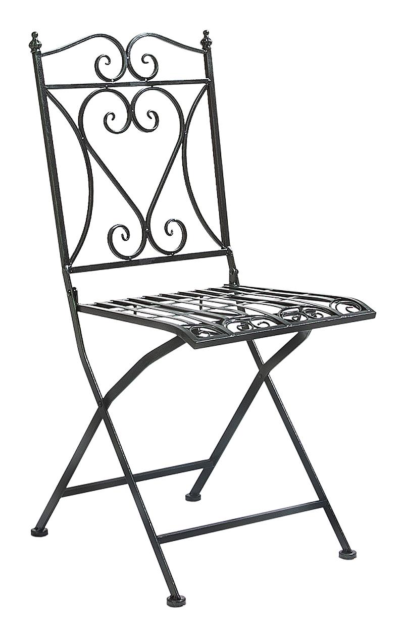 Купить Складной прямоугольный стул Тюильри (черный антик) в интернет магазине дизайнерской мебели и аксессуаров для дома и дачи