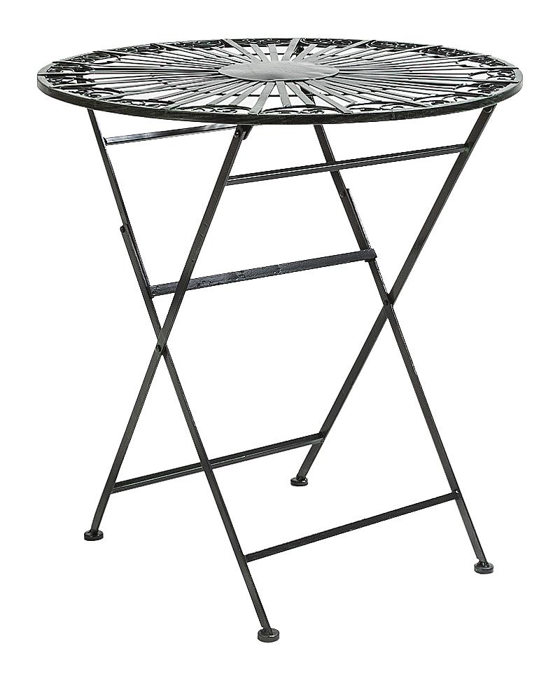 Купить Складной столик для завтрака Тюильри (черный антик) в интернет магазине дизайнерской мебели и аксессуаров для дома и дачи