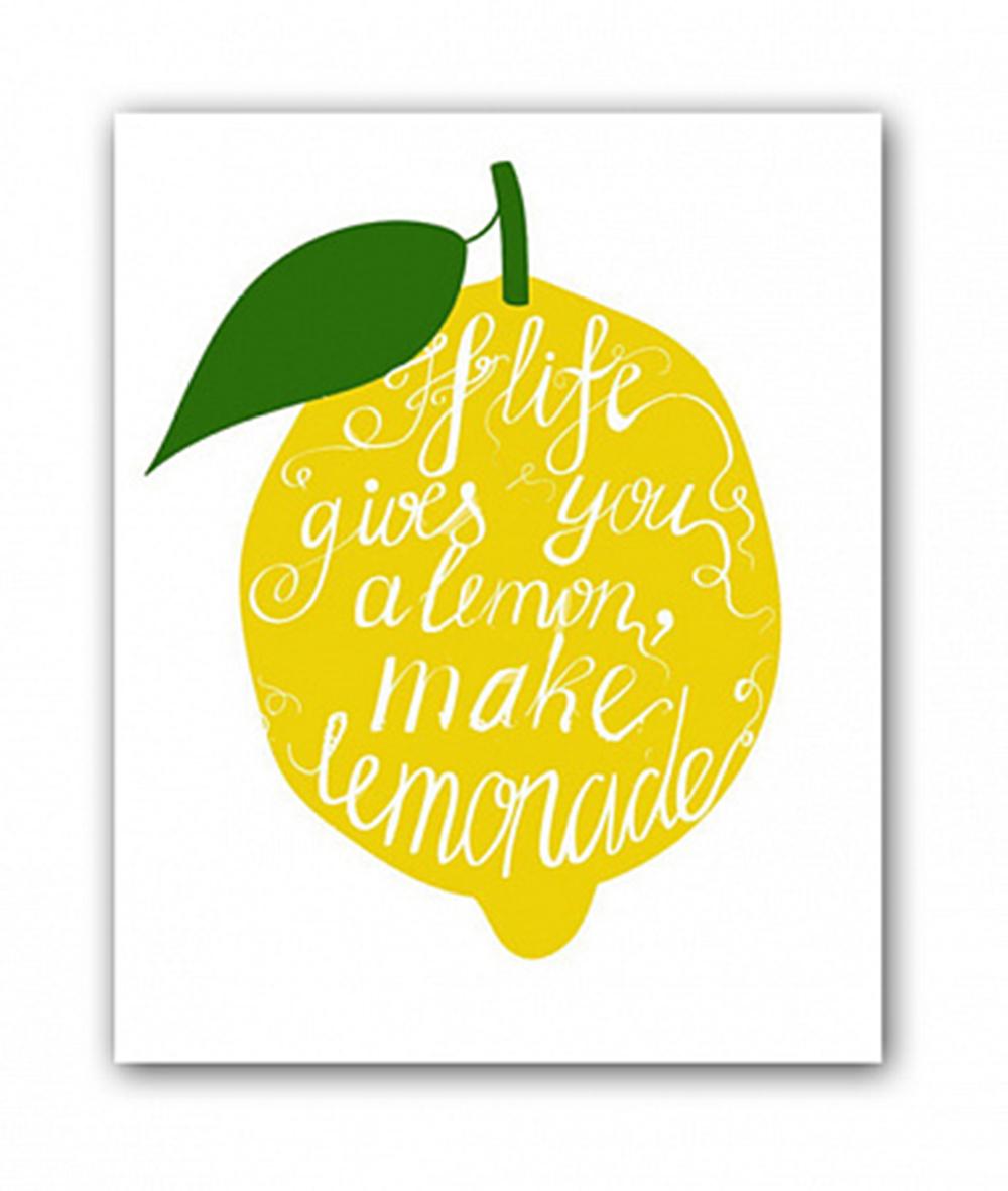 Купить Постер Лимон А4 в интернет магазине дизайнерской мебели и аксессуаров для дома и дачи