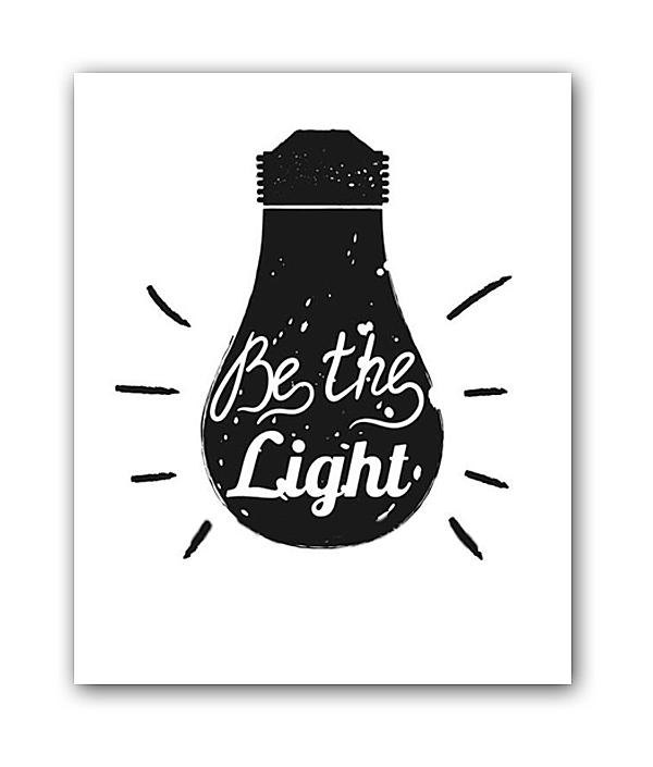 Постер Light А4