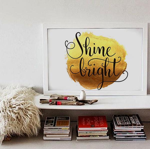 Постер Shine А4