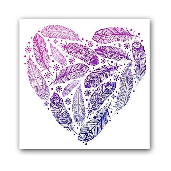 Постер Heart А3 (фиолетовый)