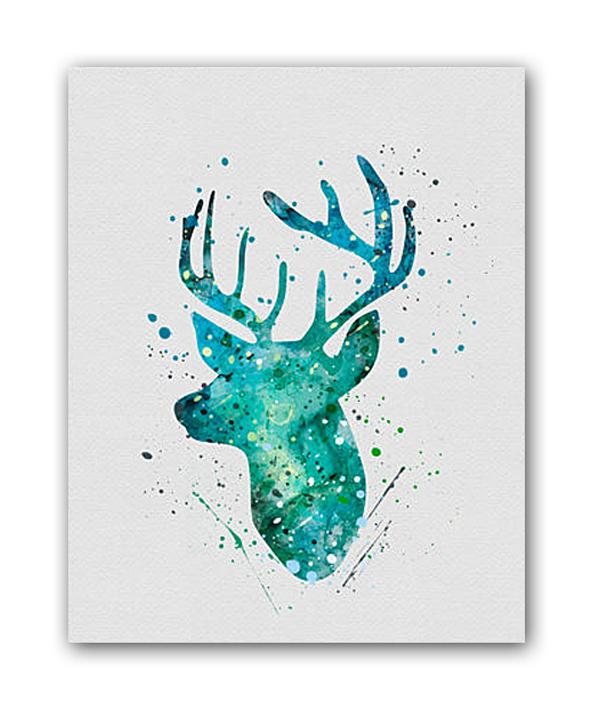 Купить Постер Олень А3 в интернет магазине дизайнерской мебели и аксессуаров для дома и дачи