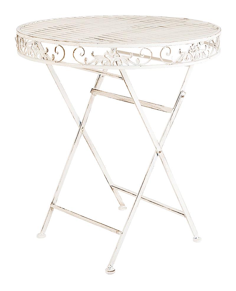 Купить Складной столик для завтрака Шербур (белый антик) в интернет магазине дизайнерской мебели и аксессуаров для дома и дачи