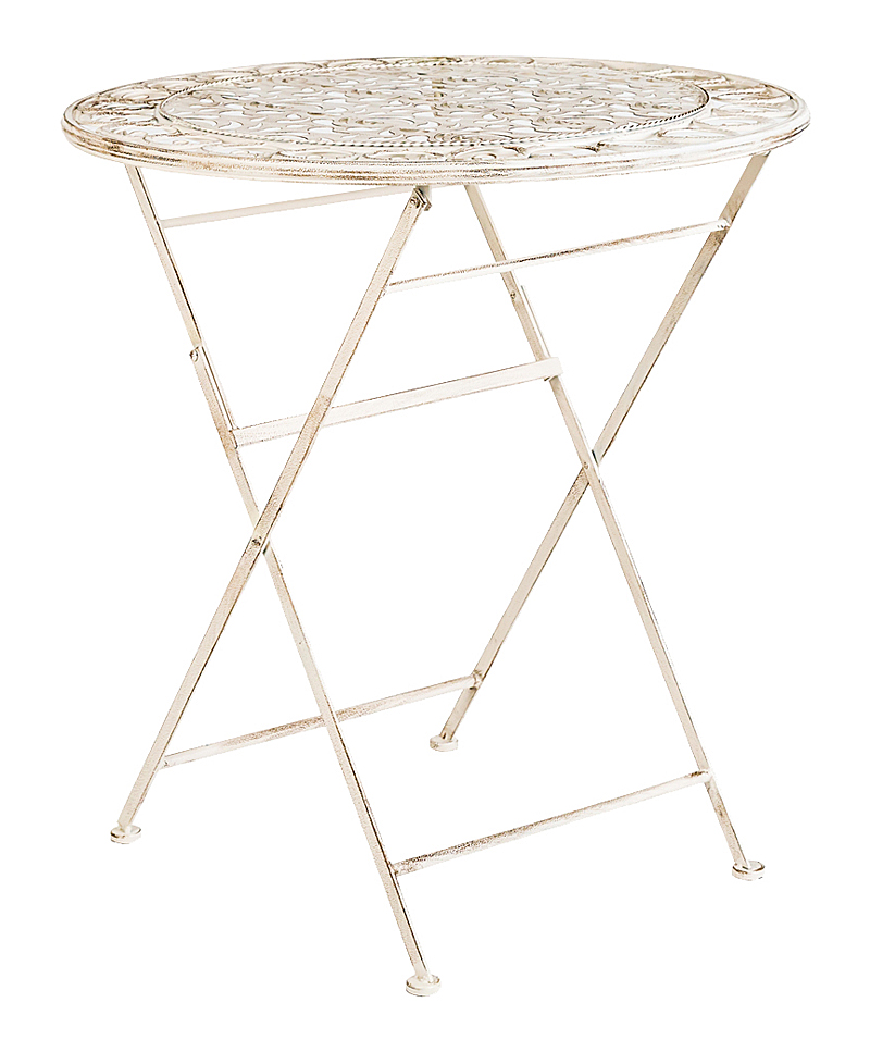 Складной столик для завтрака Риволи (белый антик), OM-TAB06