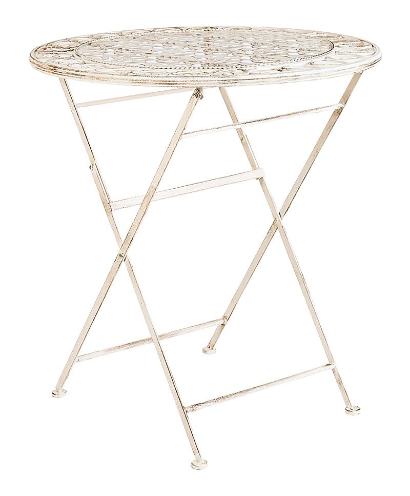 Купить Складной столик для завтрака Риволи (белый антик) в интернет магазине дизайнерской мебели и аксессуаров для дома и дачи