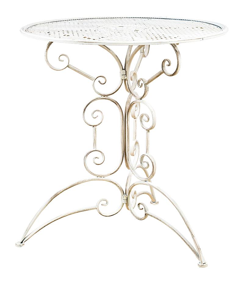 Купить Складной столик для завтрака Берси (белый антик) в интернет магазине дизайнерской мебели и аксессуаров для дома и дачи