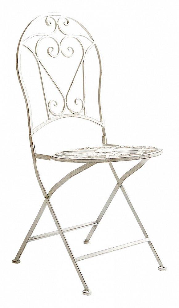 Складной круглый стул Тюильри (белый антик), OM-CH14