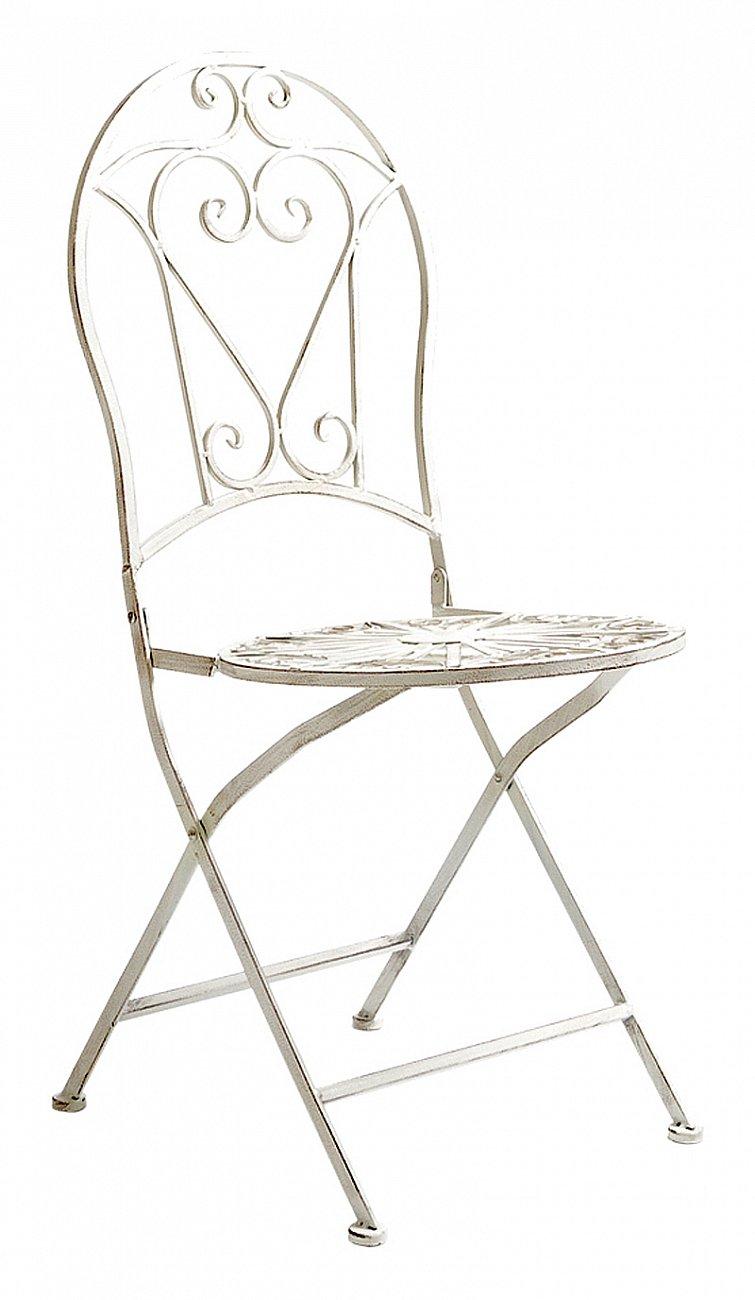 Купить Складной круглый стул Тюильри (белый антик) в интернет магазине дизайнерской мебели и аксессуаров для дома и дачи