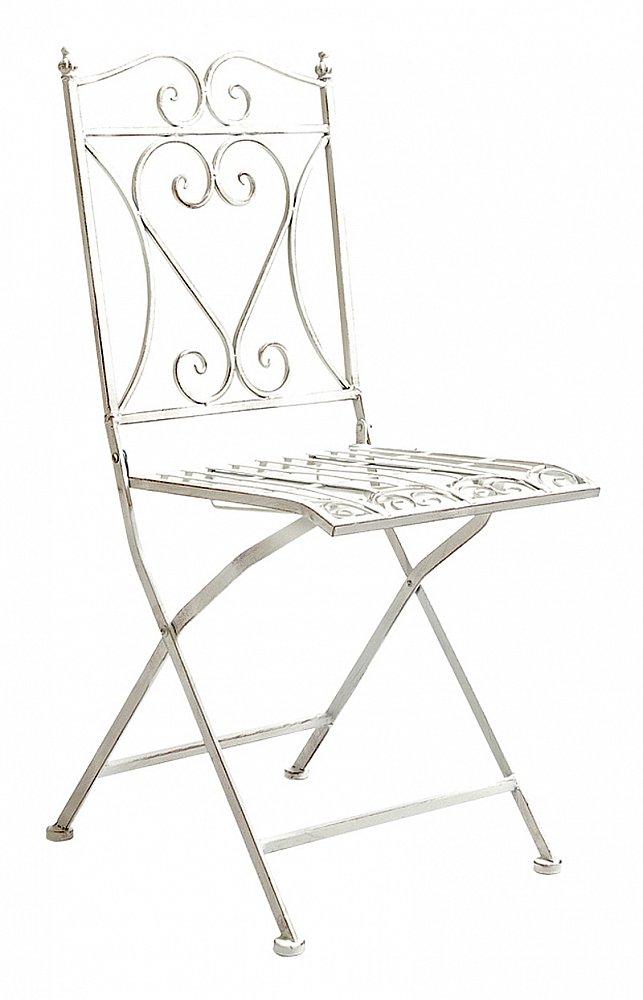 Складной прямоугольный стул Тюильри (белый антик), OM-CH15
