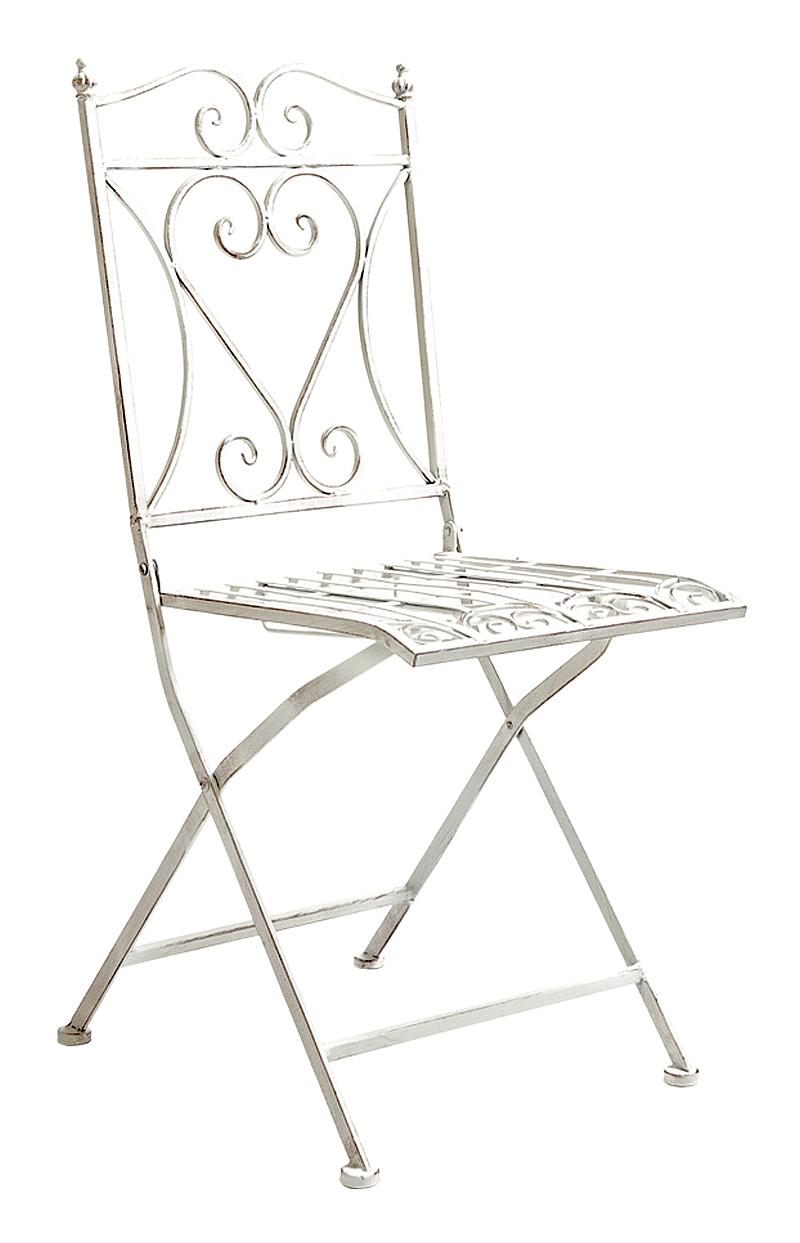 Купить Складной прямоугольный стул Тюильри (белый антик) в интернет магазине дизайнерской мебели и аксессуаров для дома и дачи