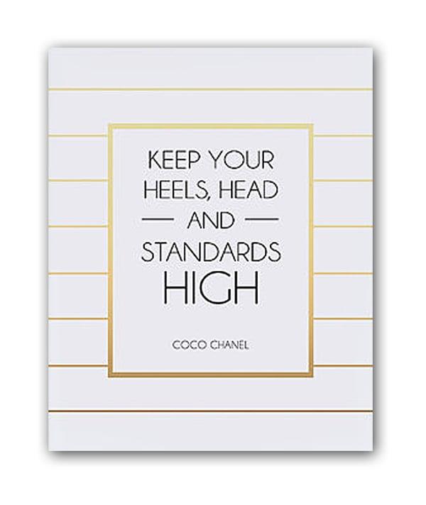 Постер Keep your heels А3Постеры<br>Постеры для интерьера сегодня являются <br>одним из самых популярных украшений для <br>дома. Они играют декоративную роль и заключают <br>в себе определённый образ, который будет <br>отражать вашу индивидуальность и создавать <br>атмосферу в помещении. При этом их основная <br>цель — отображение стиля и вкуса хозяина <br>квартиры. При этом стиль интерьера не имеет <br>значения, они прекрасно будут смотреться <br>в любом. С ними дизайн вашего интерьера <br>станет по-настоящему эксклюзивным и уникальным, <br>и можете быть уверены, что такой декор вы <br>не увидите больше нигде. А ваши гости будут <br>восхищаться тонким вкусом хозяина дома. <br>В нашем интернет-магазине представлен большой <br>ассортимент настенных декоративных постеров: <br>ироничные и забавные, позитивные и мотивирующие, <br>на которых изображено все, что угодно — <br>красивые пейзажи и фотографии животных, <br>бижутерия и лейблы модных брендов, фотографии <br>популярных персон и рекламные слоганы. <br>Размер А3 (297x420 мм). Рамки белого, черного, <br>серебряного, золотого цветов. Выбирайте!<br><br>Цвет: Белый, Чёрный, Золото<br>Материал: Бумага<br>Вес кг: 0,4<br>Длина см: 40<br>Ширина см: 30<br>Высота см: None