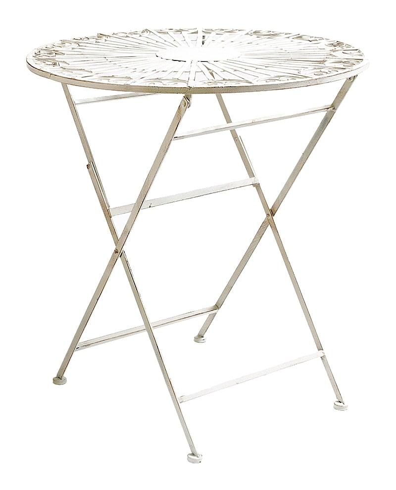 Складной столик для завтрака Тюильри (белый • антик), OM-TAB09