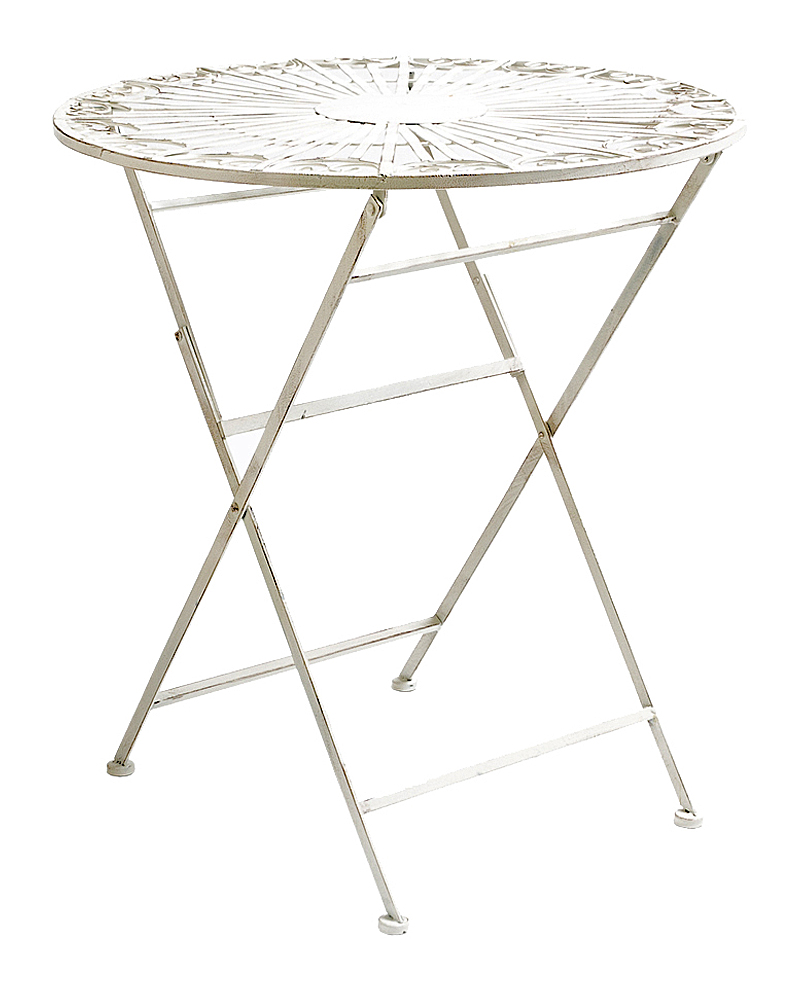 Купить Складной столик для завтрака Тюильри (белый антик) в интернет магазине дизайнерской мебели и аксессуаров для дома и дачи
