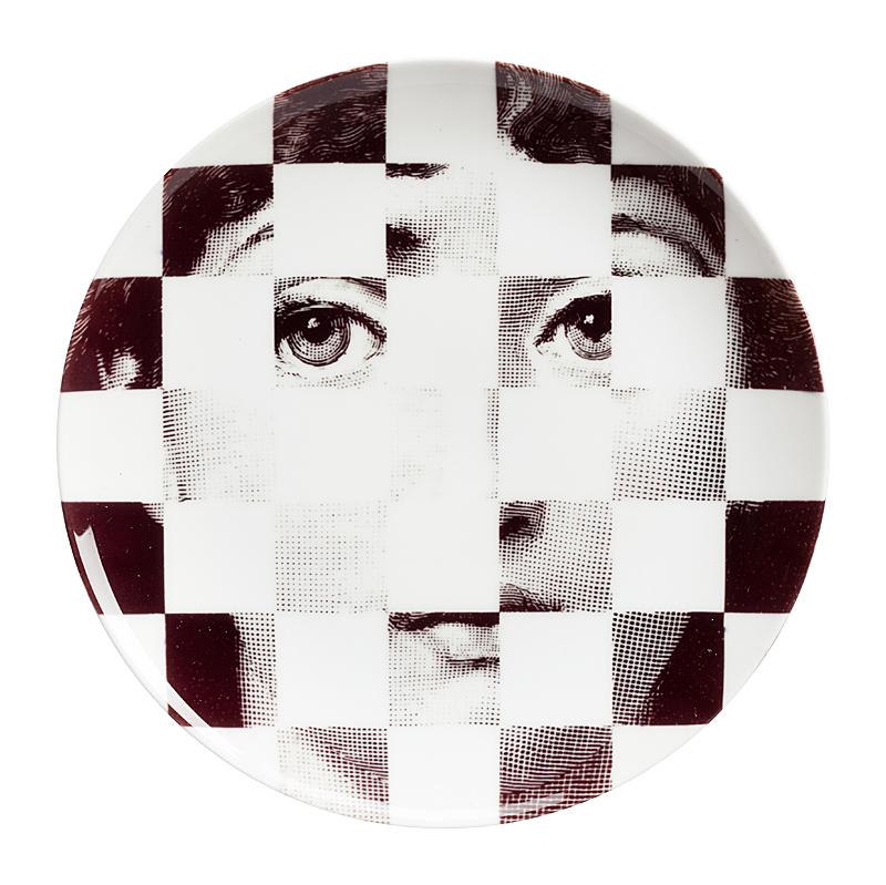 Купить Настенная тарелка Пьеро Форназетти Checker в интернет магазине дизайнерской мебели и аксессуаров для дома и дачи