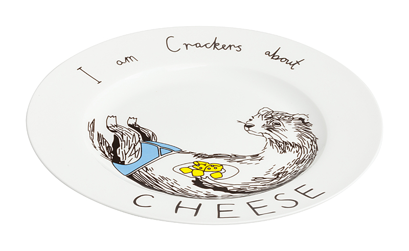 Тарелка I am Crackers about Cheese