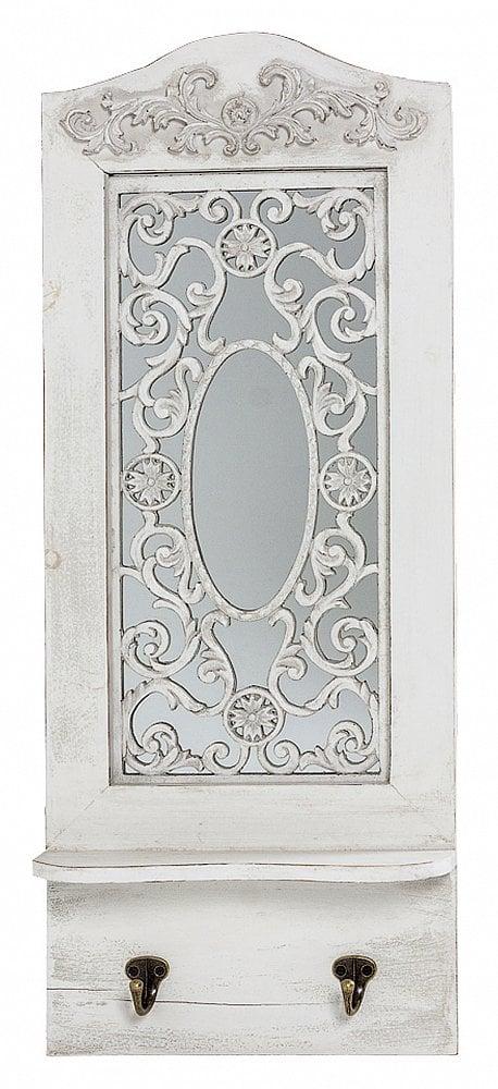 Настенное зеркало Авиньон (белый антик), Зеркала<br>С зеркалом Авиньон откройте для себя элегантность <br>исконного французского стиля. Великолепное <br>зеркало обрамлено белой древесной рамой <br>из массива ели. Роскошная лепнина адресует <br>это элегантное зеркало в разряд вечной <br>классики. Его можно повесить над туалетным <br>столиком, в ванной комнате или в прихожей, <br>заведомо восхищая гостей Вашего дома.<br><br>Цвет: None<br>Материал: None<br>Вес кг: 2