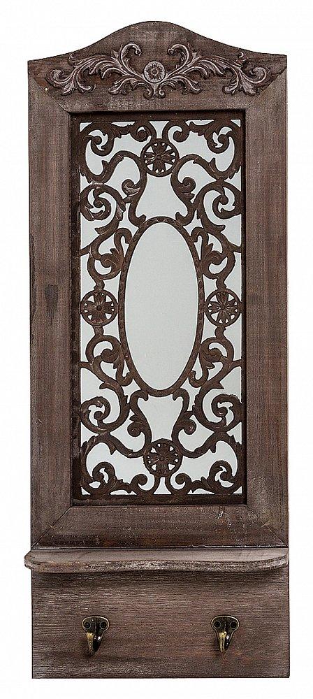 Настенное зеркало Авиньон (шоколадный Зеркала<br>Изюминка зеркала Авиньон, выполненного <br>из натуральной ели, кроется в элегантных <br>деталях. Резные орнаменты, которыми украшено <br>зеркало, задают тон изделию и напоминают <br>об изысканной нежности. Впечатлите Ваших <br>гостей утонченным стилем прованс, ворвавшимся <br>сквозь зазеркалье в Ваш дом!<br><br>Цвет: None<br>Материал: None<br>Вес кг: 2