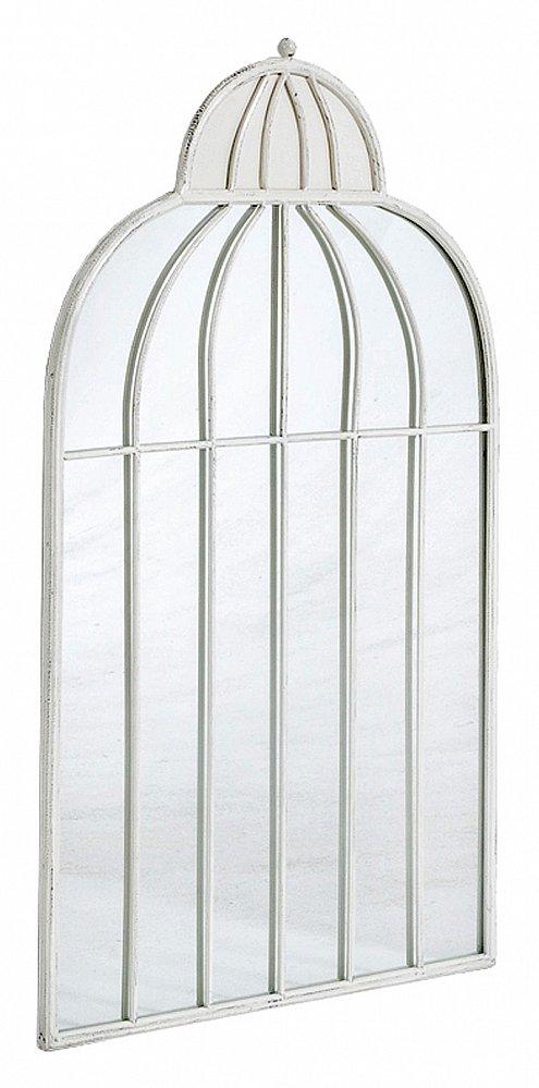 Настенное зеркало-клетка Элизабет (белый Зеркала<br>Настенное зеркало в форме клетки «Элизабет»  сделает Ваш дом веселее и ярче. С его помощью  можно придать любому помещению необычный, неповторимый и даже сказочный облик. Уникальный дизайн этого зеркала внесет новое дыхание в Ваш интерьер. Зеркало станет идеальным дополнением прихожей, спальни или гостиной.<br><br>Цвет: Белый<br>Материал: Металл<br>Вес кг: None<br>Длинна см: 5<br>Ширина см: 56<br>Высота см: 92,5