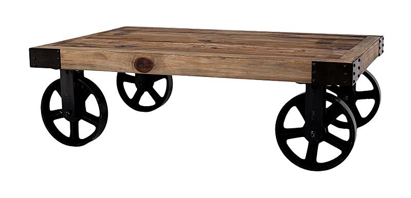 Купить Кофейный столик на колесах Лофт в интернет магазине дизайнерской мебели и аксессуаров для дома и дачи