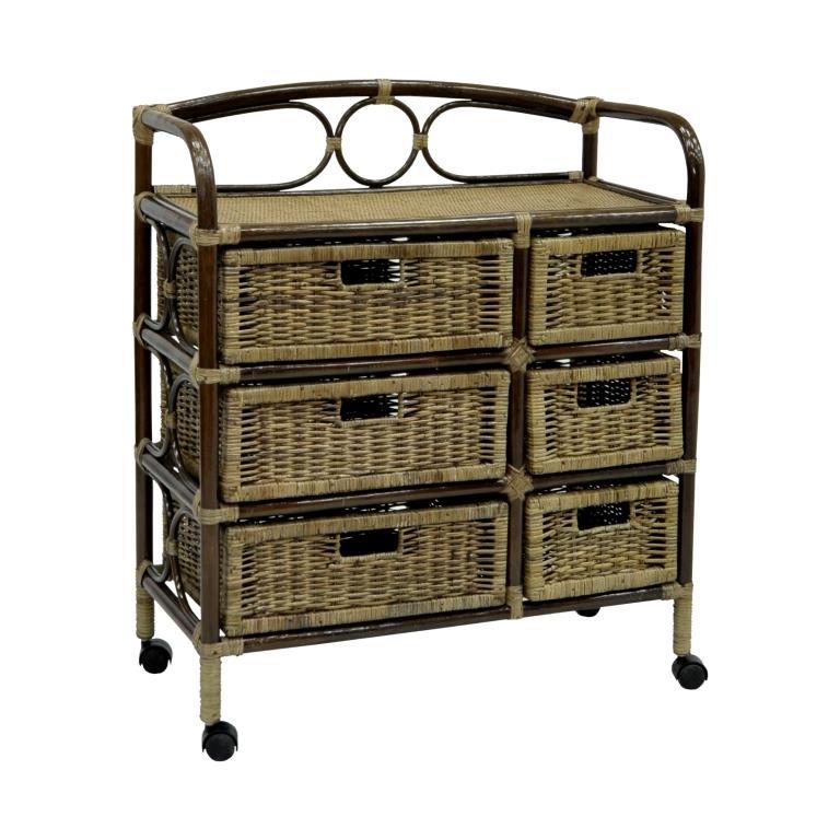Купить Комод, плетёный из ротанга Rider (темный) в интернет магазине дизайнерской мебели и аксессуаров для дома и дачи