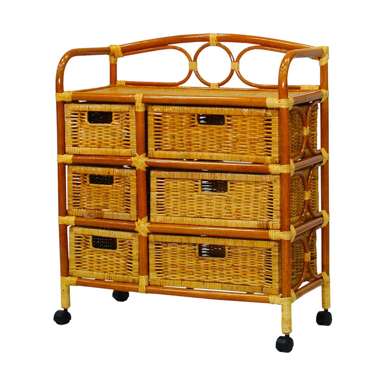 Купить Комод, плетёный из ротанга Rider (светлый) в интернет магазине дизайнерской мебели и аксессуаров для дома и дачи