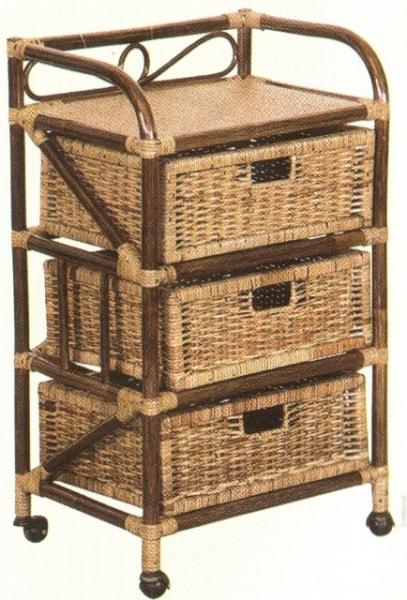 Комод с плетёными ящиками Tower (темный), Уличная и садовая мебель<br>Ротанг гибкое и прочное растение, мебель из ротанга может выдерживать большой вес. Важным достоинством комода из ротанга является его легкость, что позволяет его свободно перемещать.<br>Каждый комод или шкаф из ротанга - уникален, так как все делается вручную.<br><br>Цвет: Темно-бежевый<br>Материал: Натуральный ротанг<br>Вес кг: None<br>Ширина см: 52<br>Высота см: 86