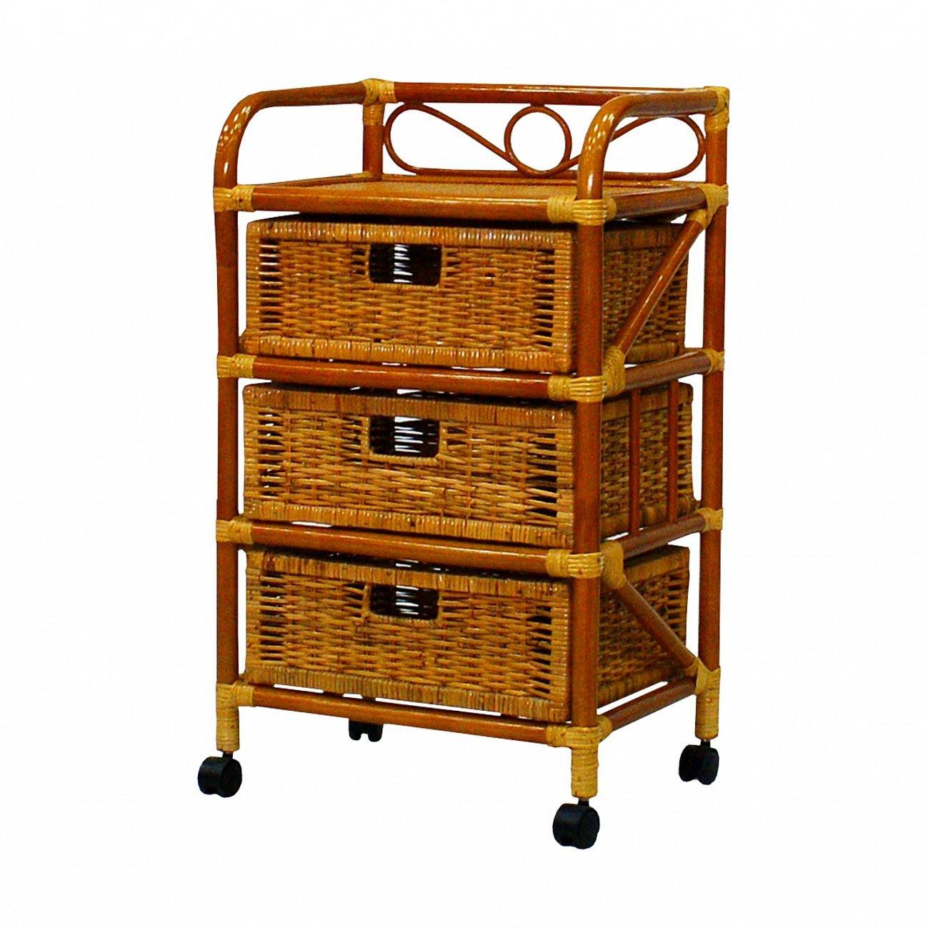 Купить Комод с плетёными ящиками Tower (светлый) в интернет магазине дизайнерской мебели и аксессуаров для дома и дачи
