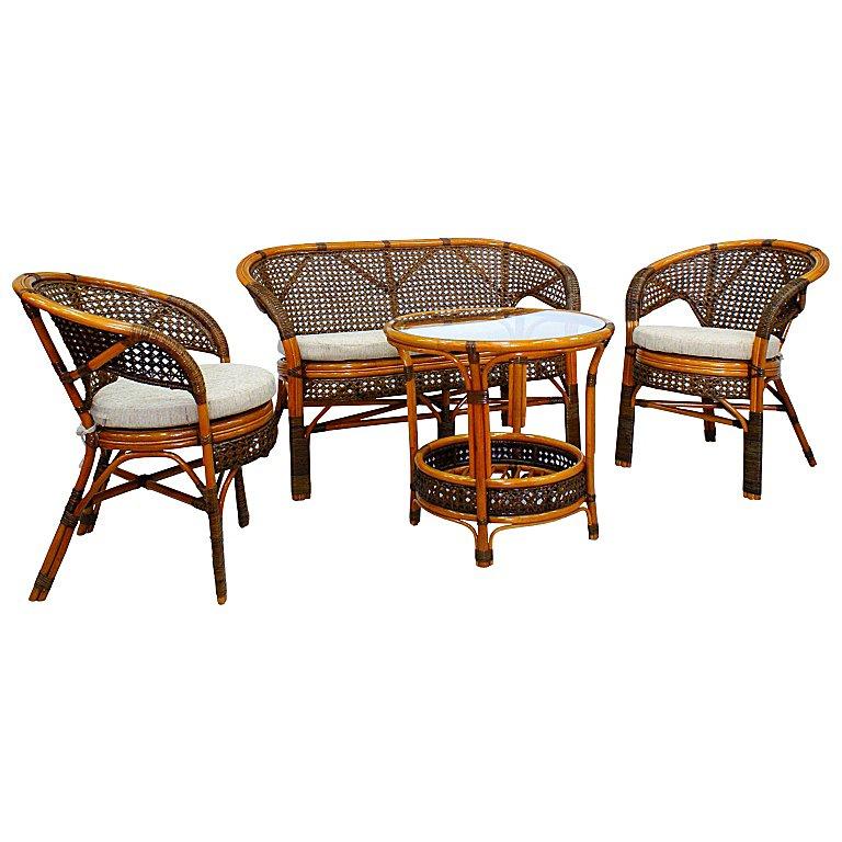Купить Комплект плетёной мебели из ротанга Together (темно-коричневый) в интернет магазине дизайнерской мебели и аксессуаров для дома и дачи