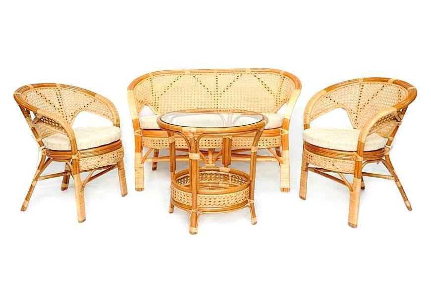 Купить Комплект плетёной мебели из ротанга Together (бежевый) в интернет магазине дизайнерской мебели и аксессуаров для дома и дачи