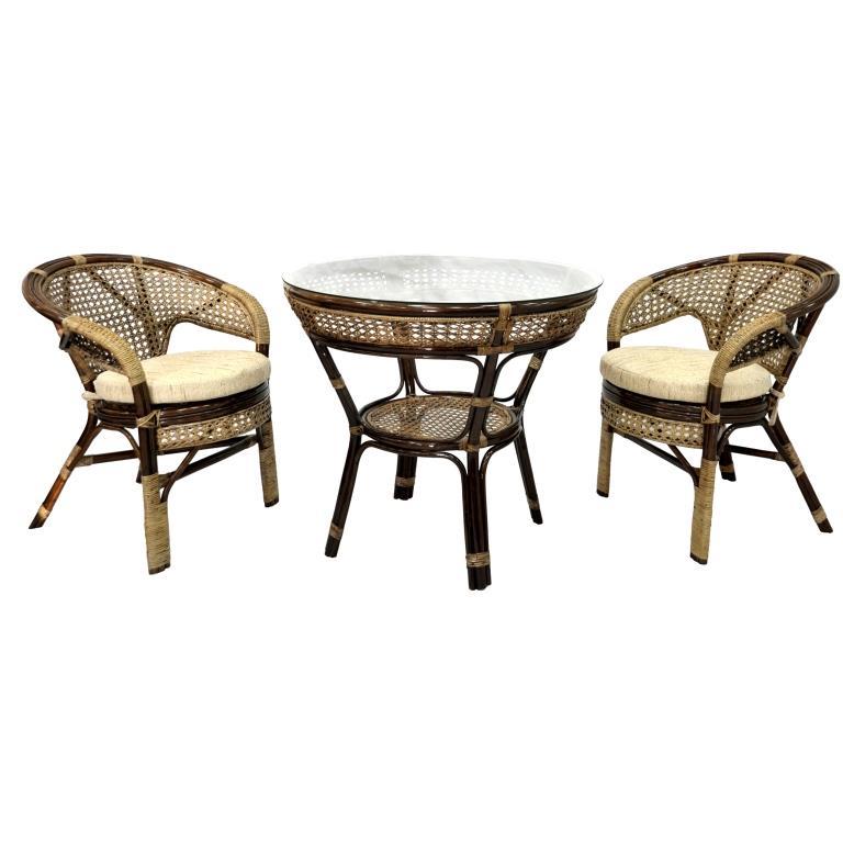 Купить Обеденный комплект Lunch (2 стула, стол) в интернет магазине дизайнерской мебели и аксессуаров для дома и дачи
