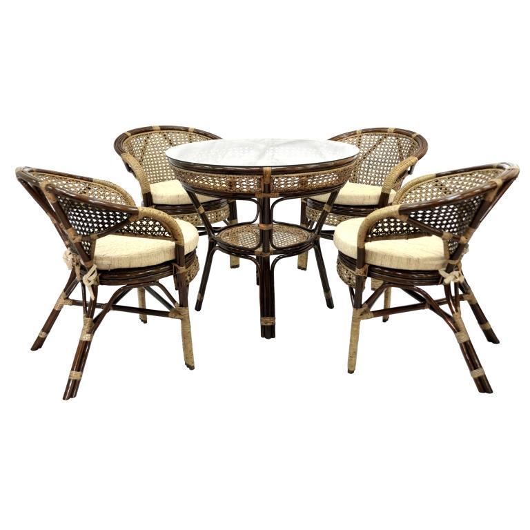 Купить Обеденный комплект Lunch (4 стула, стол) в интернет магазине дизайнерской мебели и аксессуаров для дома и дачи