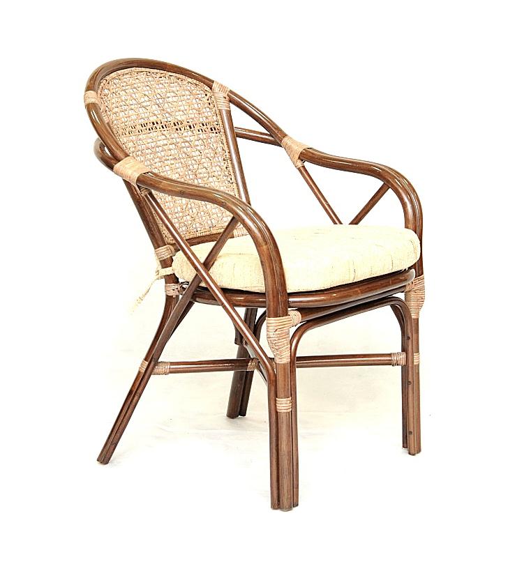 Купить Кресло из ротанга Simple Way (бежево-коричневый) в интернет магазине дизайнерской мебели и аксессуаров для дома и дачи