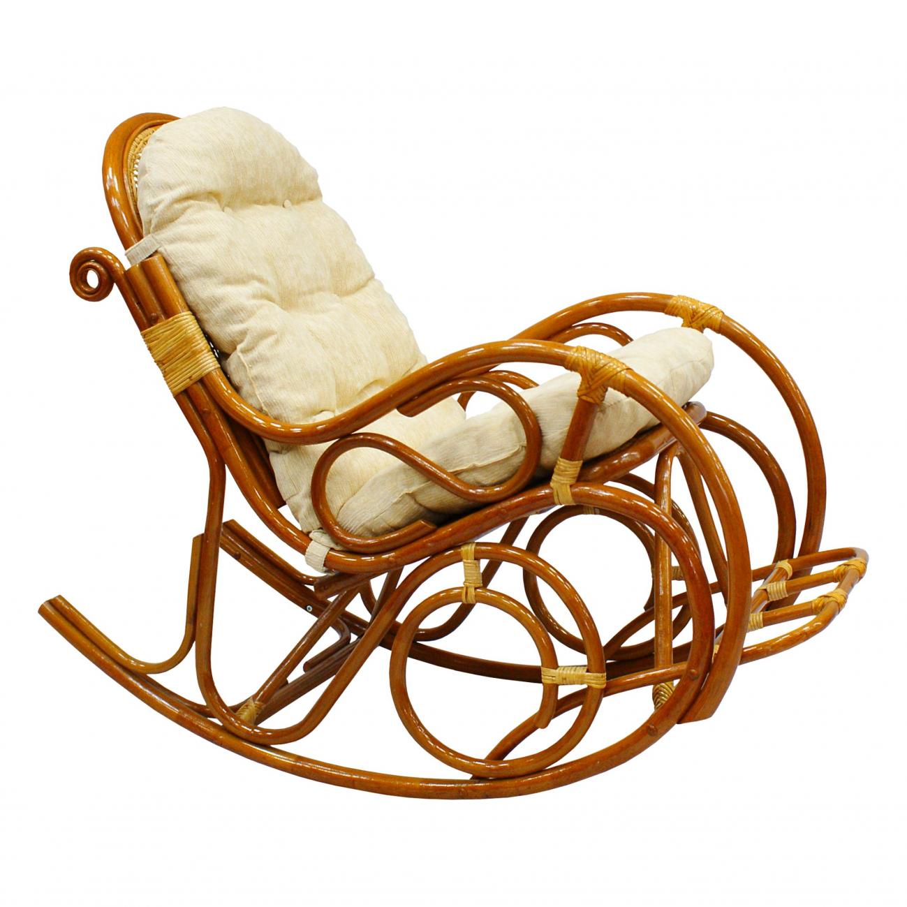 Купить Кресло-качалка Indo Classik (бежевый) в интернет магазине дизайнерской мебели и аксессуаров для дома и дачи