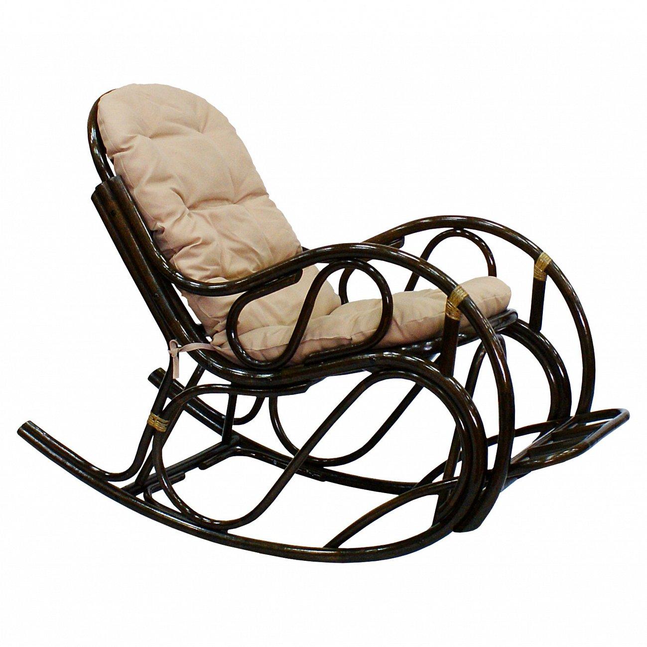 Купить Кресло-качалка Lucky (темно-коричневый) в интернет магазине дизайнерской мебели и аксессуаров для дома и дачи