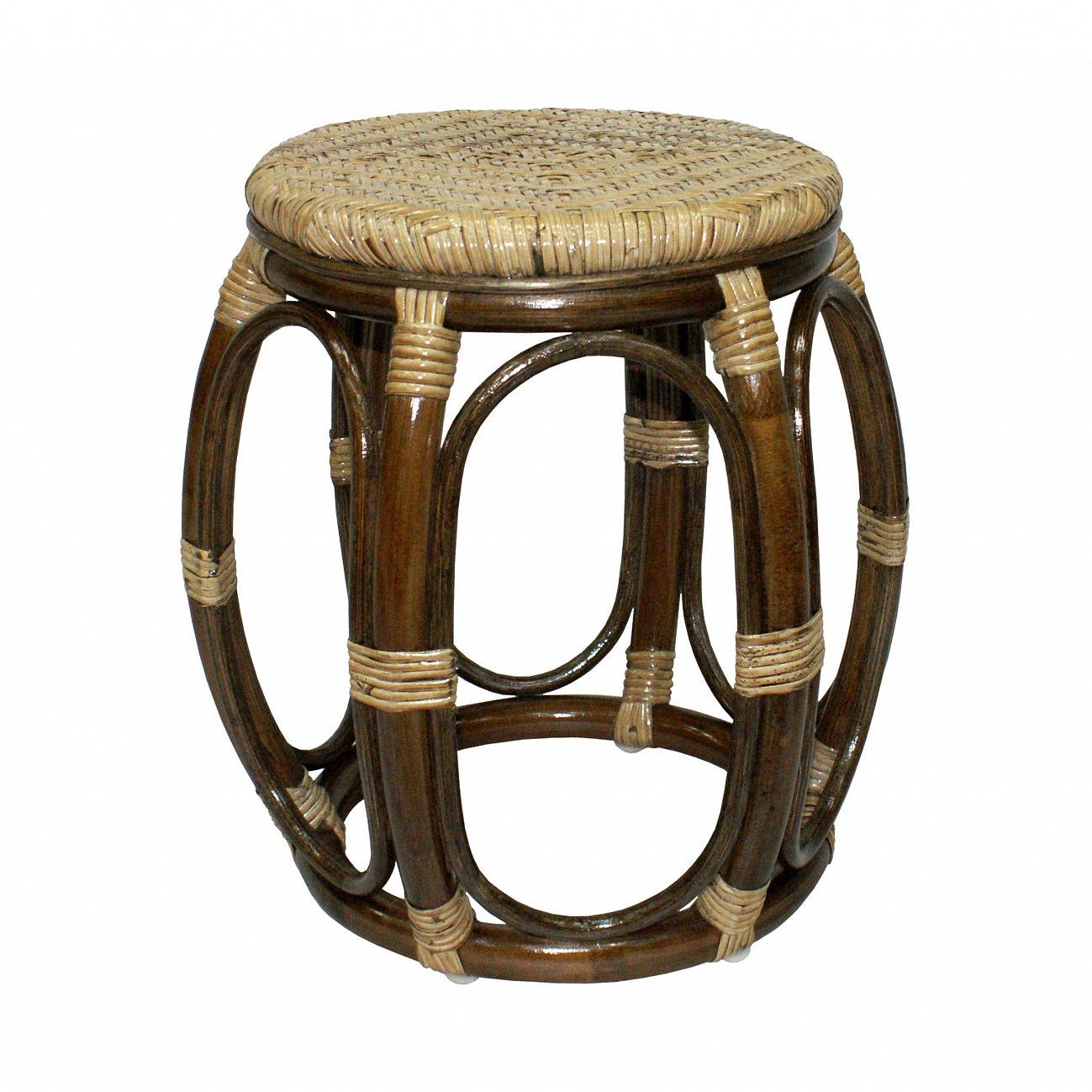 Купить Табурет из ротанга Drum в интернет магазине дизайнерской мебели и аксессуаров для дома и дачи