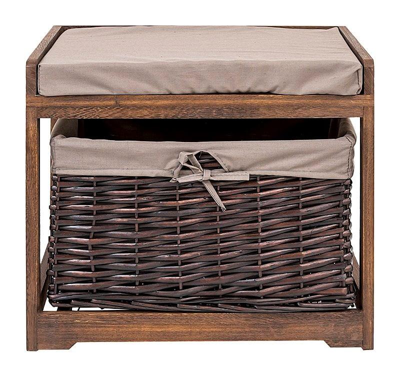 Банкетка с корзиной Монсоро (коричневая), • OM-PF02