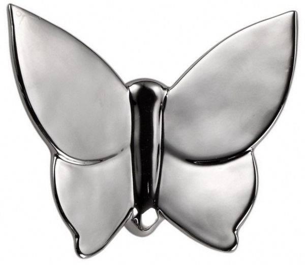 Декоративная бабочка Butterly (серебристая) Декор стен<br><br><br>Цвет: Серебро<br>Материал: Керамика<br>Вес кг: 0.3